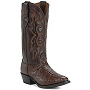 Larry Mahan Men's Tobacco Hornback Gator R-Toe Exotic Western Boots