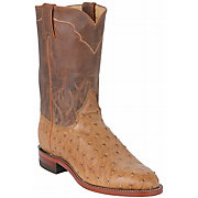 Justin Men's Antique Tan Vintage Full Quill Ostrich Exotic Roper Boot