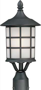 "Artcraft Yorktown 17"" Outdoor Post Light Fixture - Black AC8673BK"