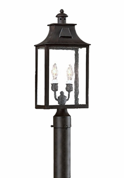 Newton Traditional Outdoor Post Lighting Fixture by Troy PCD9003OBZ