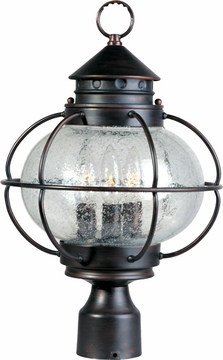 "Portsmouth 16"" Outdoor Post Lighting Fixture By Maxim - Nautical 30500"
