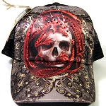 Skull & Red Dragon Design