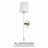 Cortney Wall Sconce | Polished Nickel
