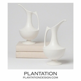 Baron Ceramic Pitcher/Vase | White