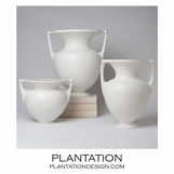Baron Ceramic Vases No. 1 | White