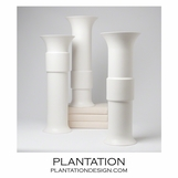 Ansel Ceramic Vases | White