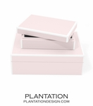 Lacquer Storage Boxes Set | Pale Pink