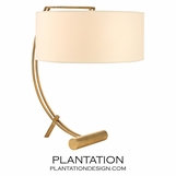 Swank Table Lamp | Antiqued Brass