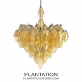 Prism Amber Glass Chandelier