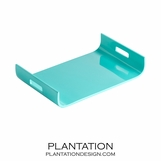Nina Lacquered Tray | Turquoise