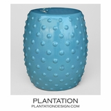 Berry Ceramic Stool | Blue