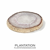 Agate Slab Tray | Gold