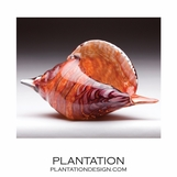 Sanibel Glass Shell | Red Swirl