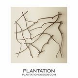 Intertwined Twigs Wall Sculpture