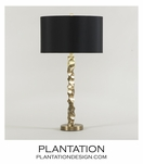 Brett Table Lamp | Brass
