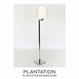 Adelia Floor Lamp | Polished Steel