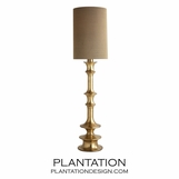 Carmen Floor Lamp | Antique Brass