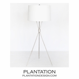 Elton Floor Lamp | Warm Silver