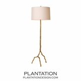 Roots Iron Floor Lamp | Gold