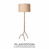 Roots Iron Floor Lamp   Silver