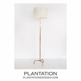 Russo Gold Leaf Floor Lamp
