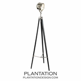 Surveyor Tripod Lamp | Ebony & Nickel