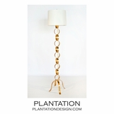 Tripoli Floor Lamp | Gold