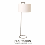 Whitney Floor Lamp | Polished Nickel