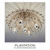 Fireworks Nickel Flush Mount