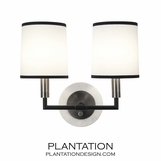 Carlton Double Sconce | Aged Nickel