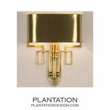 Torchiere Sconce   Antique Brass