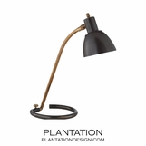 Luca Task Lamp | Bronze & Brass