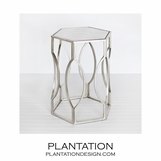 Tangier Side Table | Warm Silver
