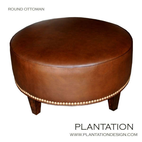 Plantation Furniture Los Angeles #37: Round Ottoman