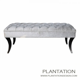 Nikita Diamond-Tufted Bench