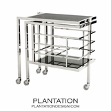 Archie Rolling Bar Cart