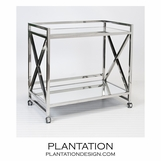 Bateman Bar Cart | Polished Steel