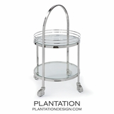 Bradford Nickel Bar Cart
