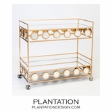 Cirque Bar Cart | Gold