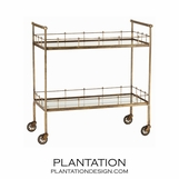 Madeira Bar Cart | Brass