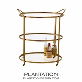 Wainwright Bar Cart | Brass