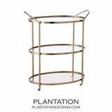 Wainwright Bar Cart | Nickel