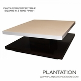 Cantilever Coffee Table | 2-Tone Square