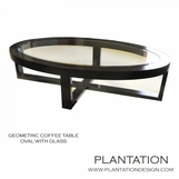 Geometric Coffee Table | Oval