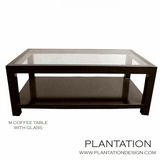 M Rectangular Coffee Table | Glass