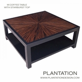 M Square Coffee Table | Macassar Starburst