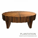 Scalloped Coffee Table | Oval