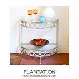 Estelle Console Table | Silver
