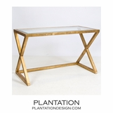 Irvine Console Table | Gold Leaf