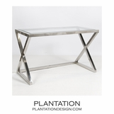 Irvine Console Table | Nickel